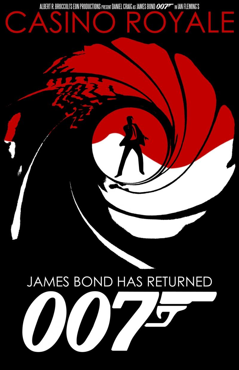 007  James Bond Casino Royal Afiş Retro & Motto Kanvas Tablo