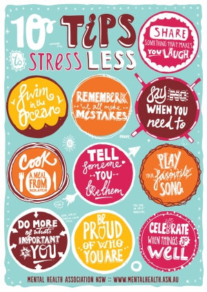 10 Tips Stressless Motivasyon Retro & Motto Kanvas Tablo