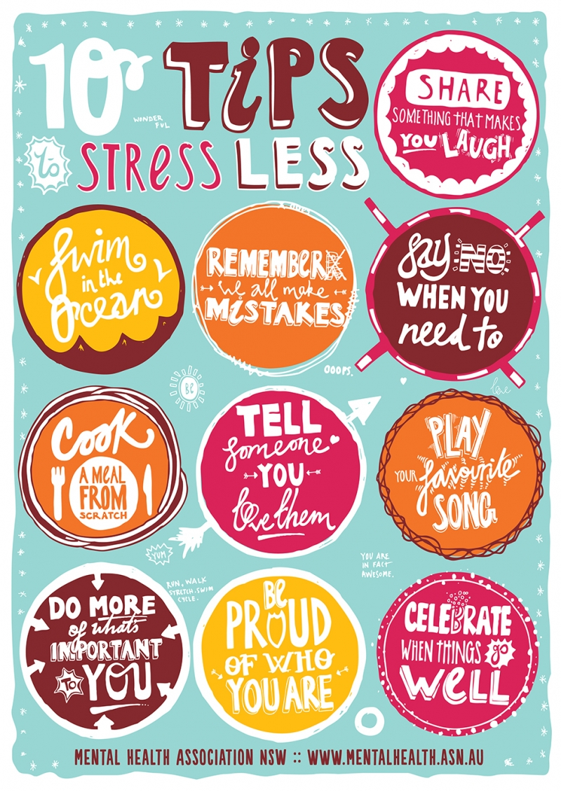 10 Tips Stressless Motivasyon Retro & Motto Kanvas Tablo