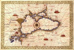 1533 1560 Francesco Balkanlar Anadolu Kafkasya Karadeniz Haritasi Eski Harita Cografya Kanvas Tablo