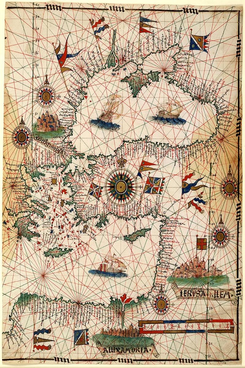 1546 Joau Freire Rusya Balkanlar Anadolu Karadeniz Akdeniz Kuzey Afrika Haritasi Eski Harita Cografya Kanvas Tablo
