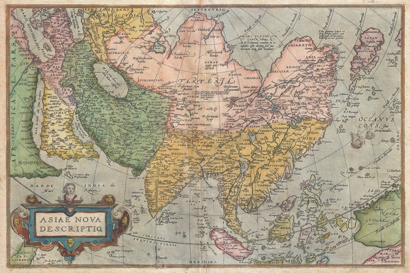 1570 1670 Ortelius Yeni Asya Avustralya Pasific Okyonusu Eski Cizim Antik Dunya Haritasi Cografya Canvas Tablo