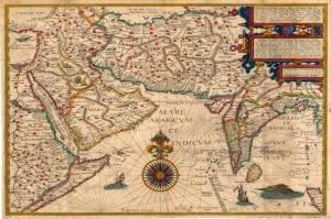 1596 Suryani Toplumu Dagilimi Eski Cizim Harita Cografya Kanvas Tablo