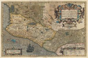 1606 Hondius Yeni Ispanya Yeni Meksika Eski Cizim Harita Cografya Kanvas Tablo