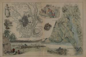 1856 Jerusalem Sehir Plani Resimli Incilden Alinti Harita Cografya Canvas Tablo