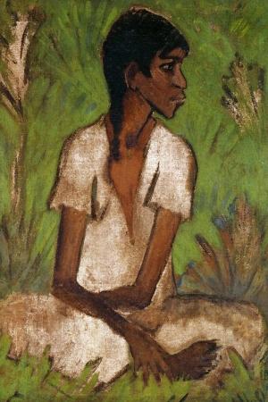 1930 Otto Mueller Femme Tzigane Klasik Sanat Kanvas Tablo