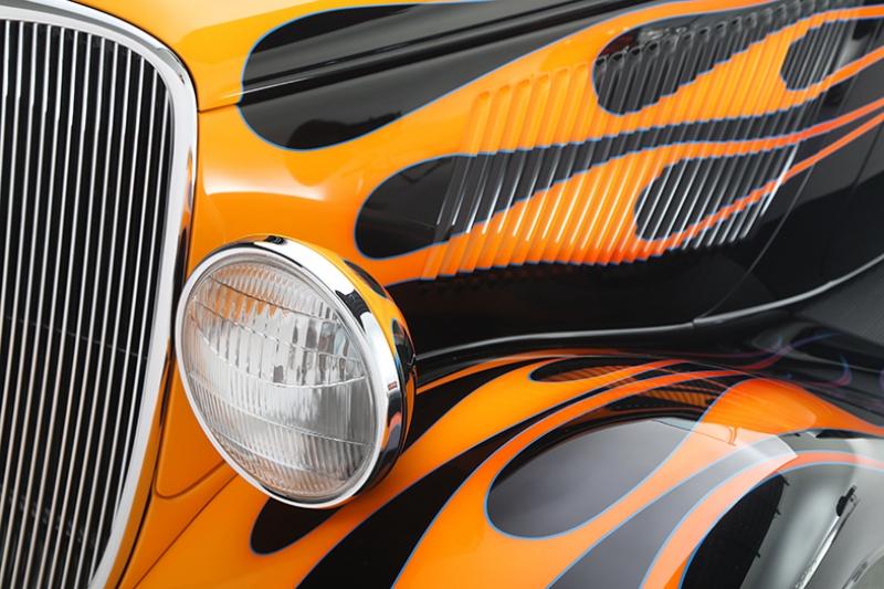 1933 Ford Roadster Hot Rod Tony Stark Otomobil Araçlar Kanvas Tablo