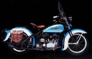 1936 Harley Davidson Motorsiklet Araçlar Kanvas Tablo