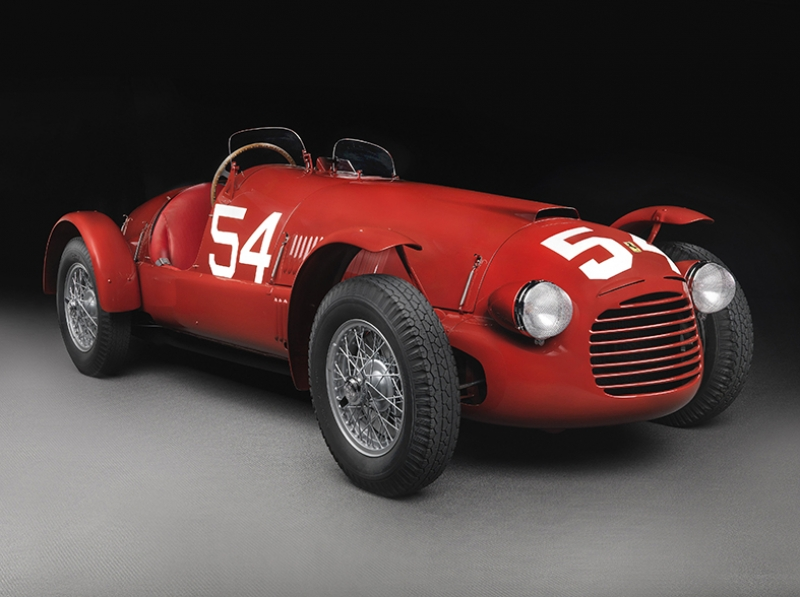 1947 Model Ferrari 166 Spyder Corsa Araçlar Kanvas Tablo
