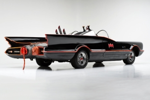 1955 Batmobile Dc Comic Batman Süper Kahramanlar Kanvas Tablo