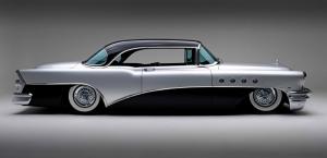 1955 Model Buick Klasik Otomobiller 4 Eski Klasik Amerikan Arabalar Poster Araclar Canvas Tablo