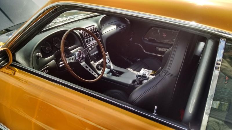 1967 Model Ford Mustang Yandan Görünüm Klasik Otomobiller Araçlar Kanvas Tablo
