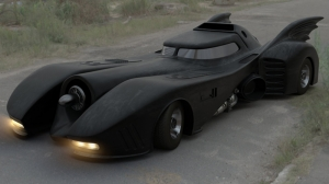 1989 Batmobile Batman DC Süper Kahramanlar Kanvas Tablo