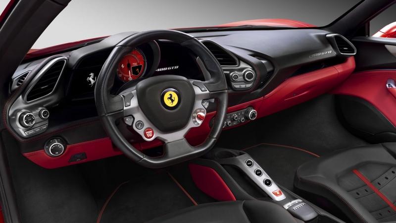 2016 Ferrari 488 GTB Ic Gorunumu Spor Otomobiller Kanvas Tablo