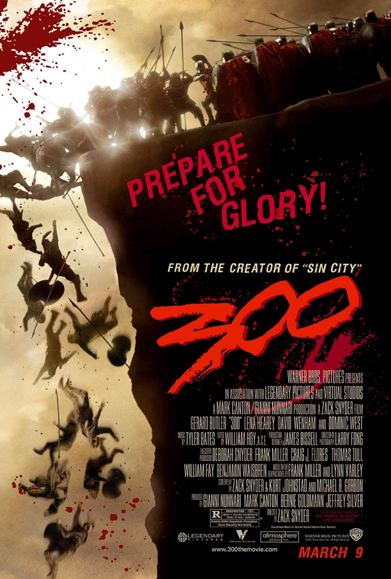 300 Spartalı Film Afişi Kanvas Tablo 2