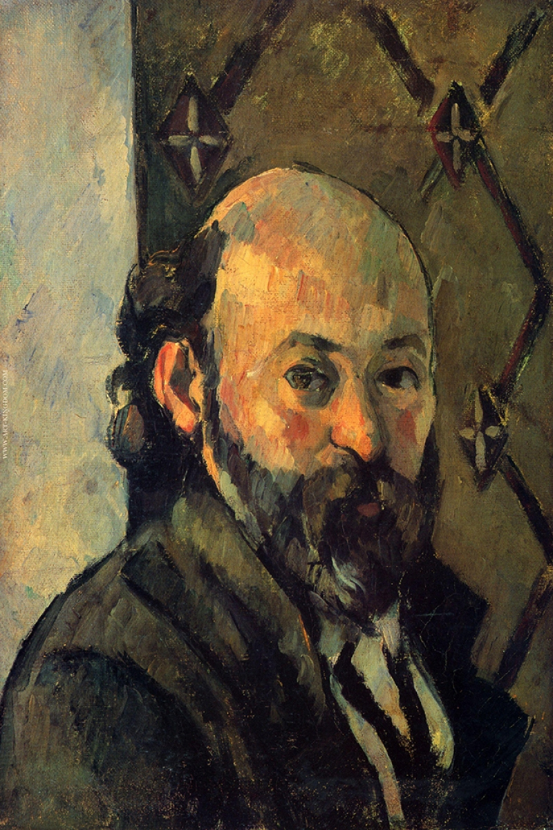 Paul Cezanne, Kendi Portresi, Self Portrait, Klasik Sanat kanvas Tablo