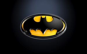 3D Batman Logo Süper Kahramanlar Kanvas Tablo