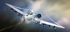A 10 Thunderbolt Savaş Uçağı Askeri Kanvas Tablo