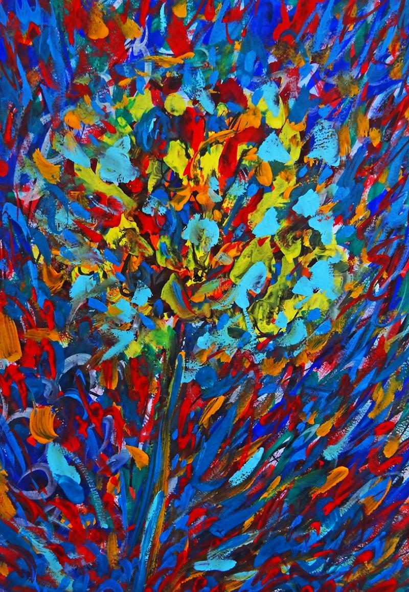 Abstract Çiçek Yağlı Boya Sanat Kanvas Tablo
