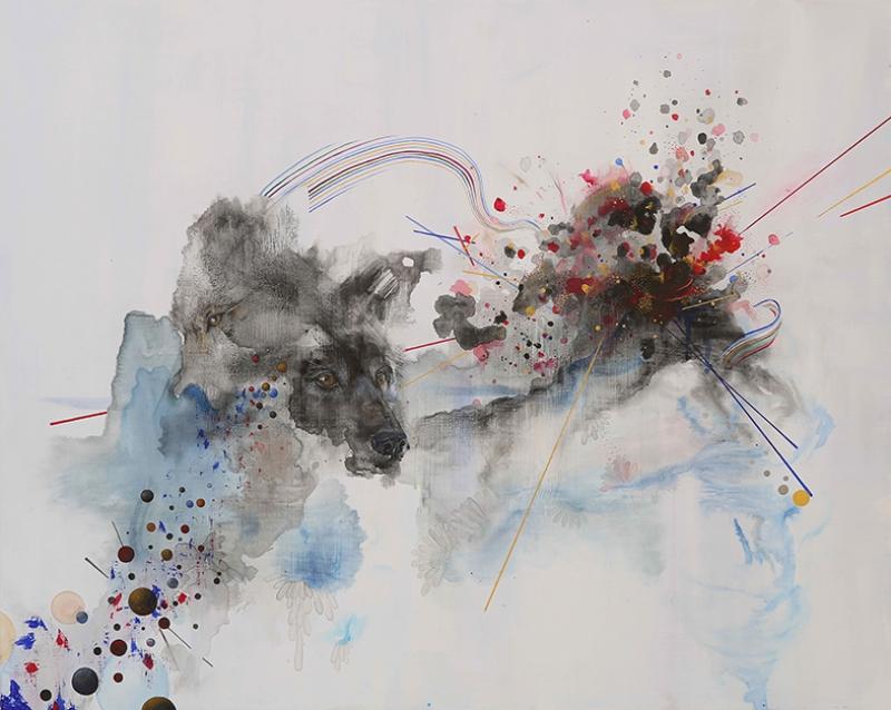 Abstract Çizgiler Soyut Kompozisyon Yağlı Boya Sanat Kanvas Tablo