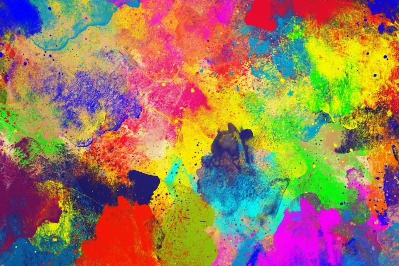 Abstract Desenler Modern Watercolor Kanvas Tablo 1