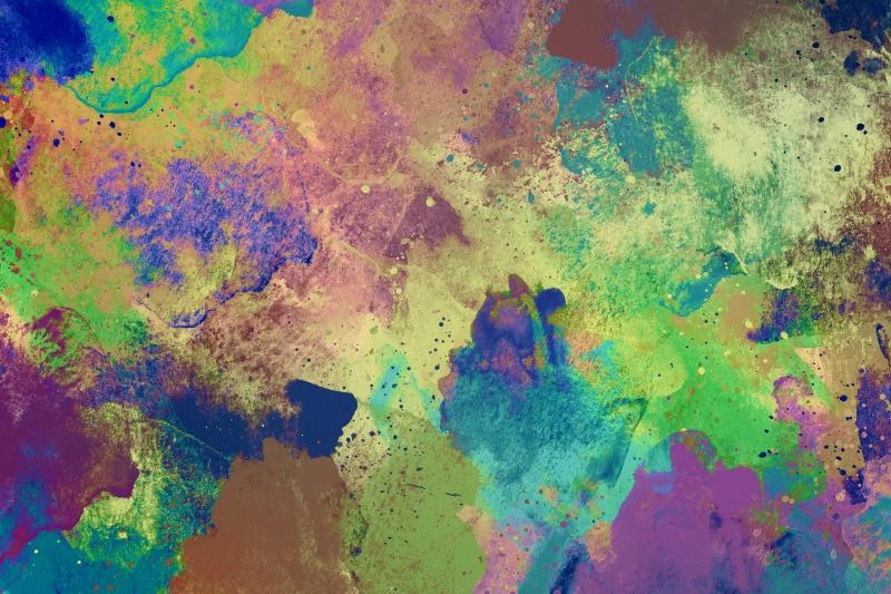 Abstract Desenler Modern Watercolor Kanvas Tablo 4