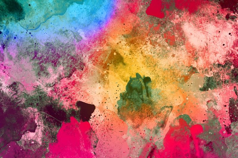 Abstract Desenler Modern Watercolor Kanvas Tablo 6