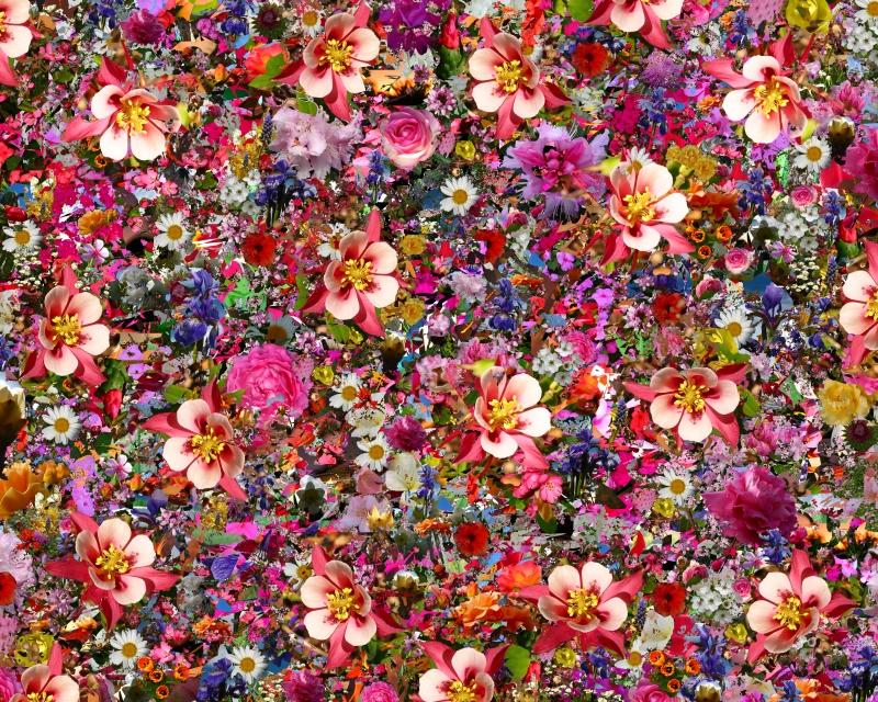 Abstract Floral Tablo