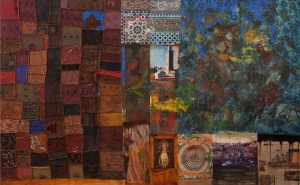 Abstract Kolaj 3 Yağlı Boya Sanat Kanvas Tablo