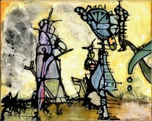 Abstract Kompozisyon 10 Yağlı Boya Sanat Kanvas Tablo