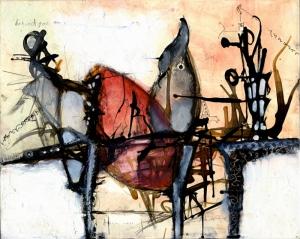 Abstract Kompozisyon Yağlı Boya Sanat Kanvas Tablo