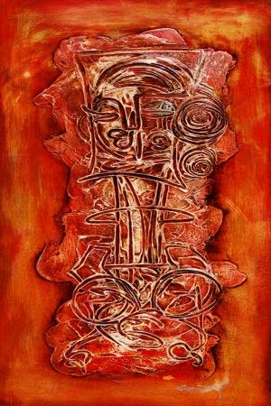 Abstract Soyut Afrika Kanvas Tablo