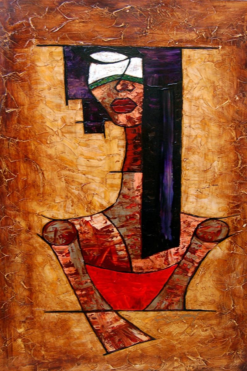 Abstract Soyut Afrikalı Kadın Kanvas Tablo
