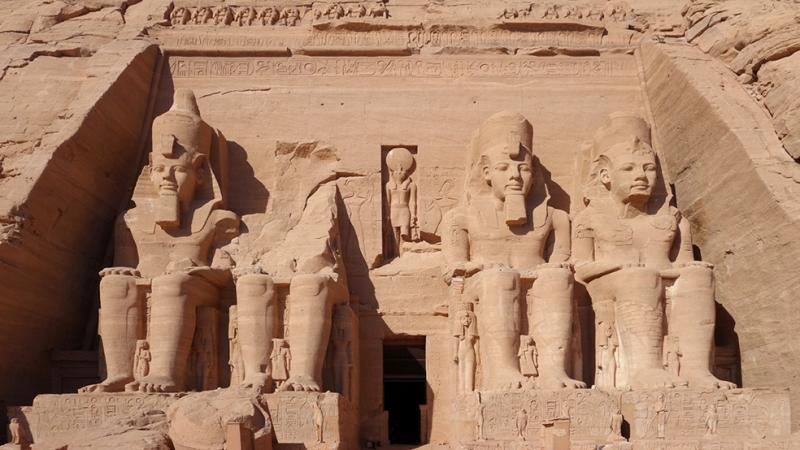 Abu Simbel Unesco Dünya Kültür Mirasları Kanvas Tablo