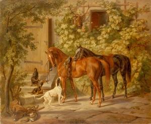 Adam Albrecht Horses Yağlı Boya Sanat Kanvas Tablo