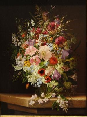 Adelheid Dietrich 1 Vazo İçinde Çiçekler Klasik Sanat Kanvas Tablo