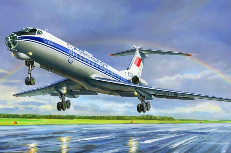 Aeroflot Rusya Hava Yollari Yolcu Ucagi Yagli Boya Sanat Kanvas Tablo
