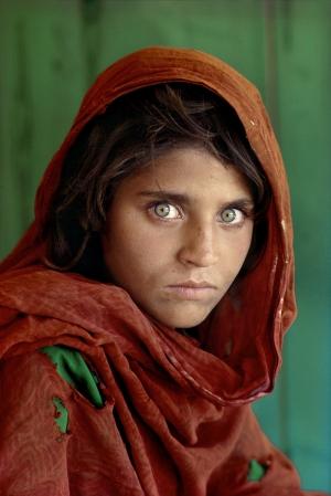 Afgan Kızı Ünlü Yüzler Kanvas Tablo