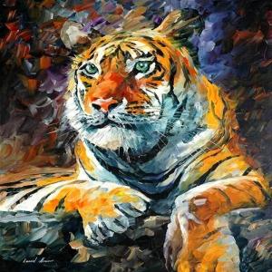 Afremov, Hayvanlar, Kaplan 1 İç Mekan Dekoratif Kanvas Tablo