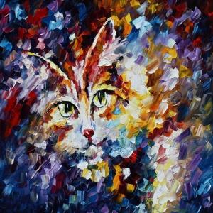 Afremov, Hayvanlar, Kaplan 2 İç Mekan Dekoratif Kanvas Tablo