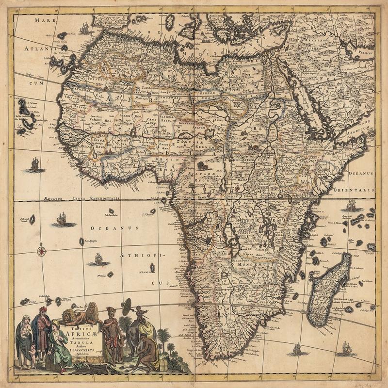 Afrika Kitasi Eskitme Eski Cizim Dunya Haritasi Dunya Haritalari Cografya Canvas Tablo