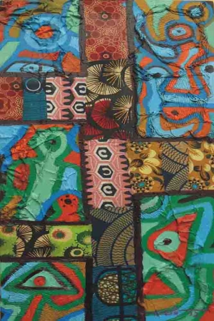 Afrika Mixed Media Kanvas Tablo