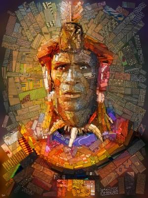 Afrika Mozaik Abstract Kanvas Tablo