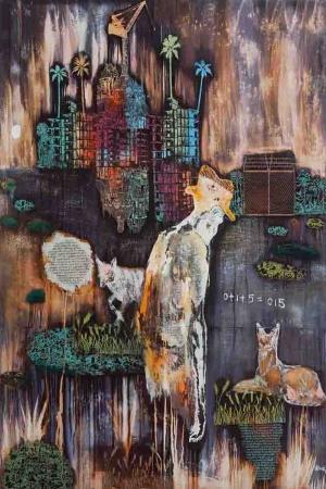 Afrika Soyut Abstract Sanat Kanvas Tablo