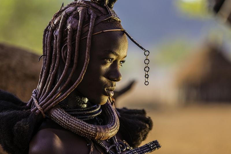 Afrika Yerli Fotoğraf Kanvas Tablo