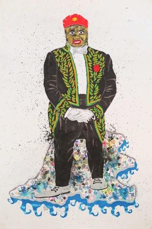 Afrikali Genc Abstract Kanvas Tablo