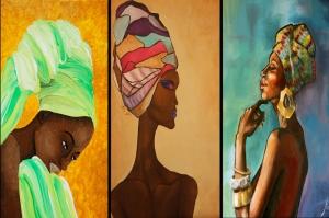 Afrikali Kadinlar-10 Sanat Kanvas Tablo