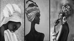 Afrikalı Kadınlar-11 Sanat Kanvas Tablo