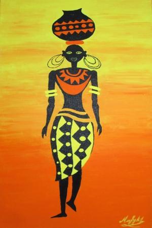 Afrikalı Kadınlar-2 Sanat Kanvas Tablo