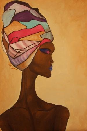 Afrikalı Kadınlar-3 Sanat Kanvas Tablo